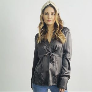 Ted Baker Silver Silk Top